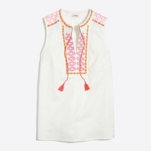 NWT J Crew Embroidered Sleeveless Tank Size 4